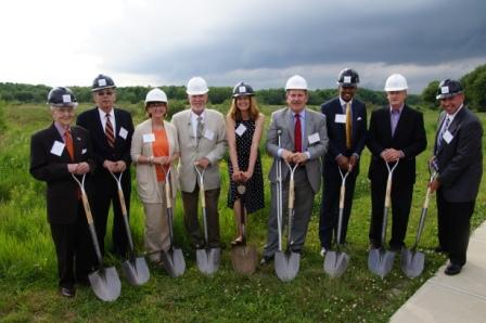 Fairing Way project team members, representatives from Massachusetts housing at groundbreaking
